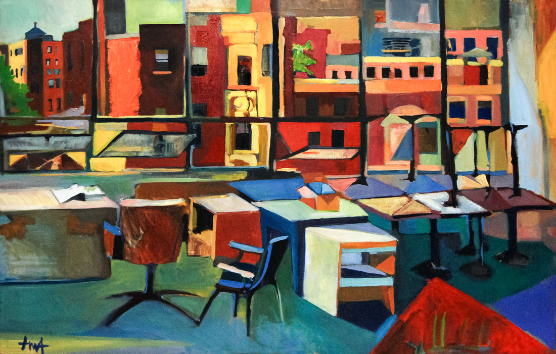 Boston | Studio View | Inner City | Oil Painting