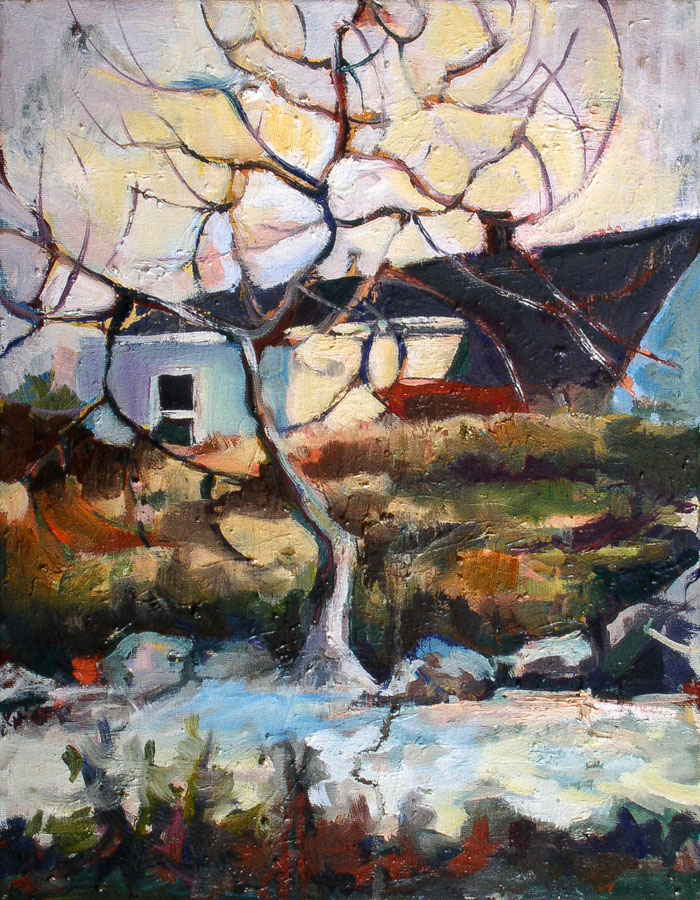Canada | Landscape | Winter | Tree | Oil Painting