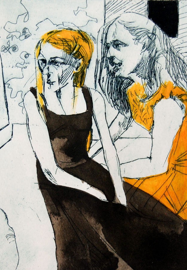 Etching | Dress | Women | Oil Painting