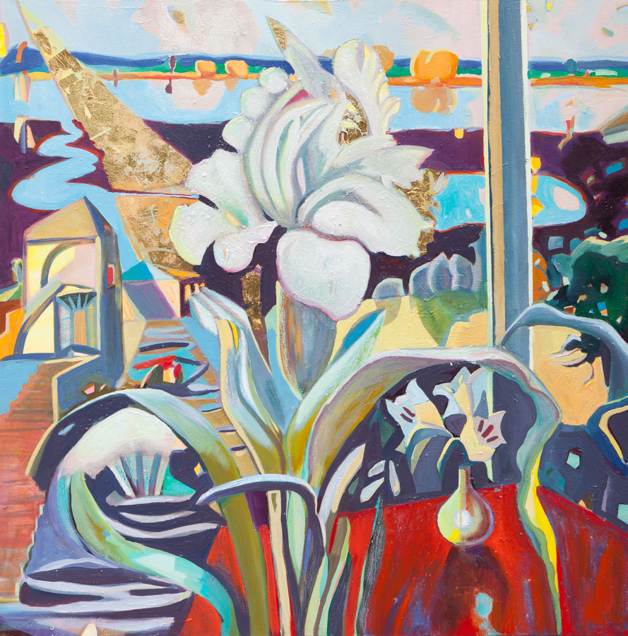 Anna Kriger | Flower | Window | Flood | Oil Painting