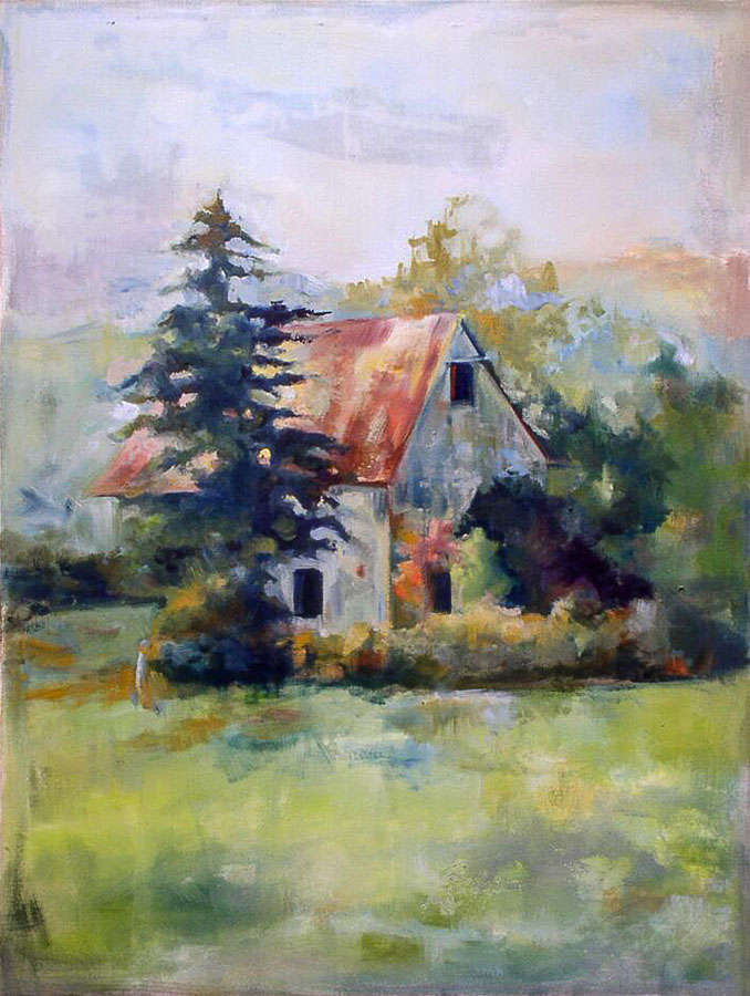 House | Tree | Landscape | Canada | Oil Painting