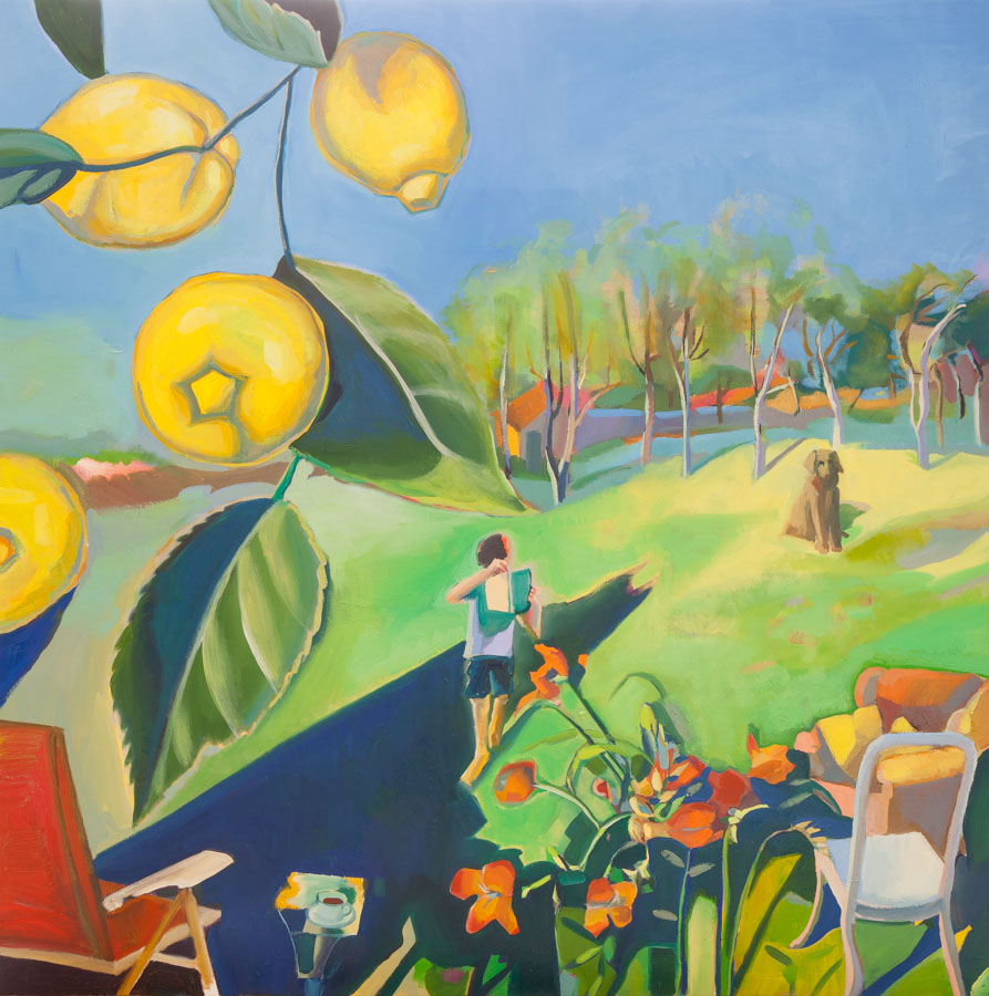 Lemons | Reading | Landscape | Oil Painting