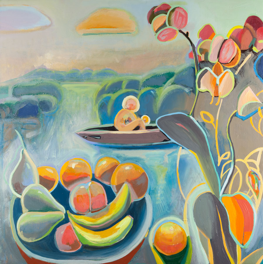 Orchid | Boat | Fruit | Orange | Oil Painting