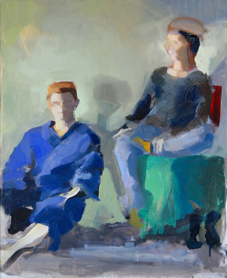 Strike a Pose | Couple | Cool Light | Oil Painting