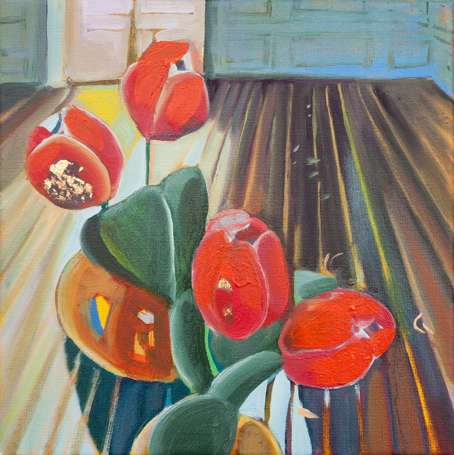 Tulips | Interior | Wood | Oil Painting