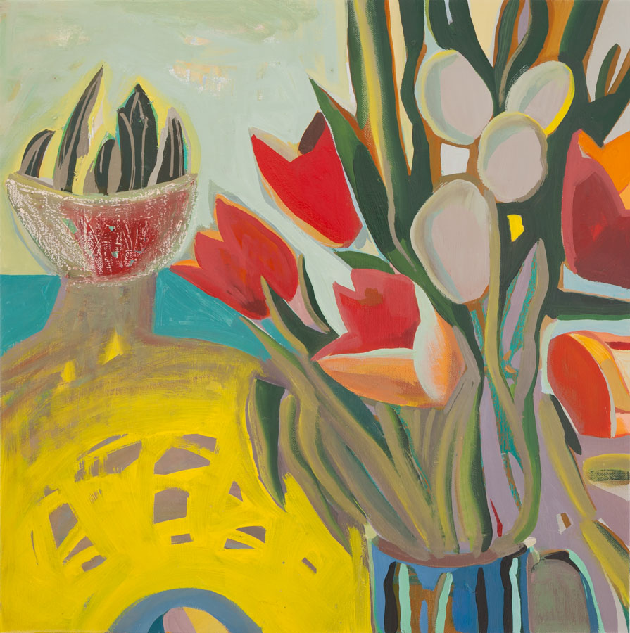 Tulips | Still Life | Cactus | Oil Painting