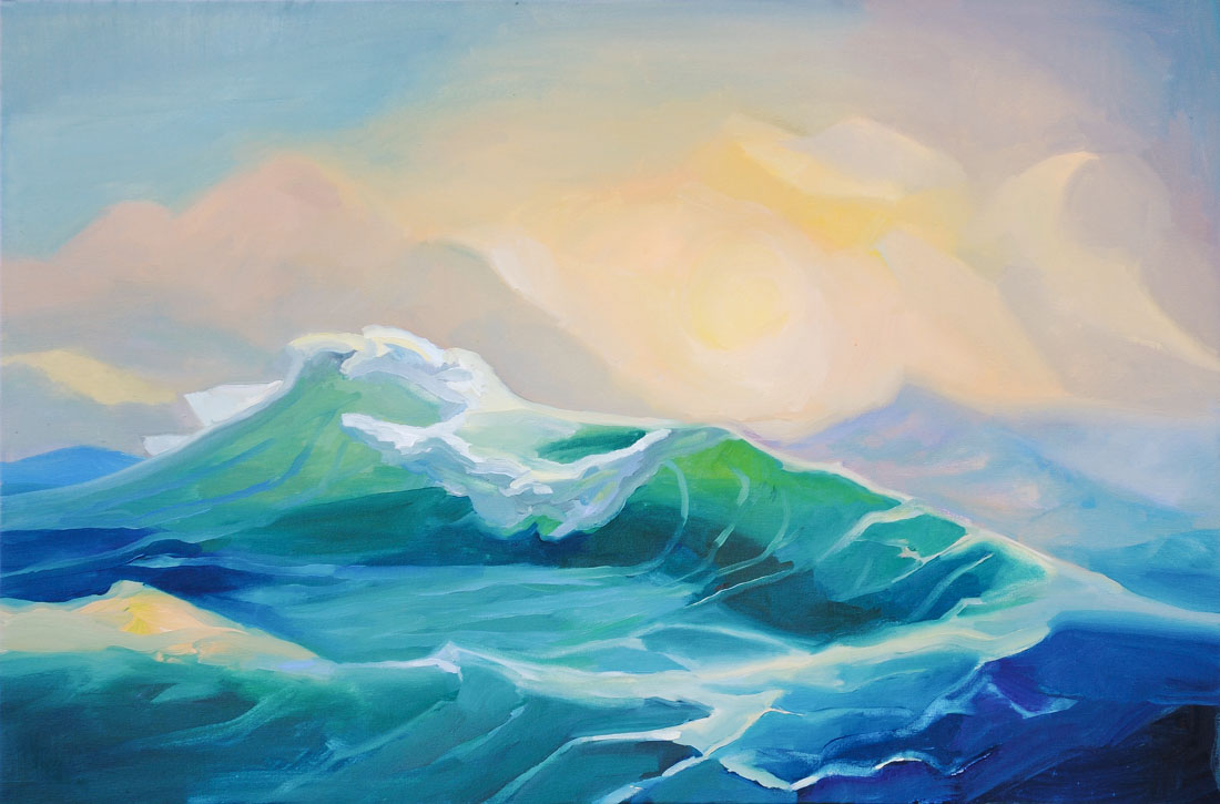 Wave | Storm | Sun | Ocean | Oil Painting